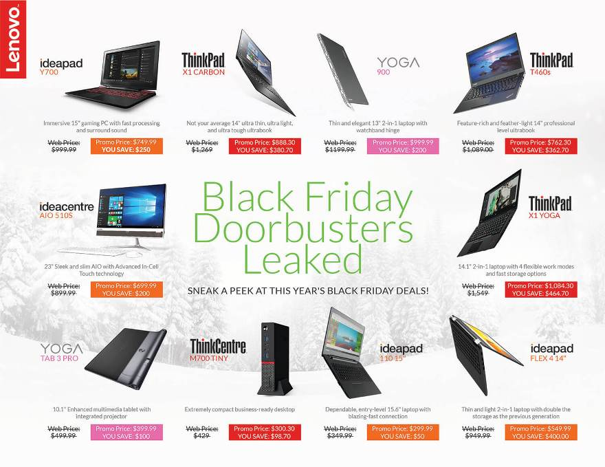 Lenovo Black Friday page 1